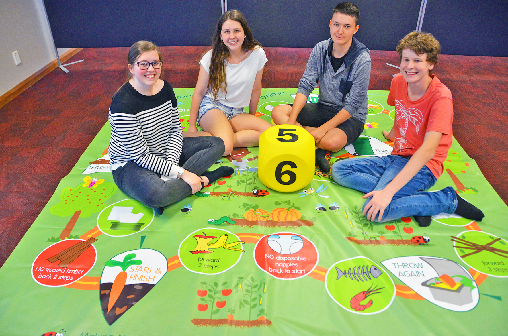 TAFE students organics recycling game