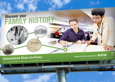 Queensland State Archives billboard
