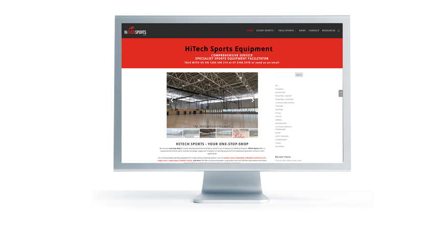HiTech Sports website